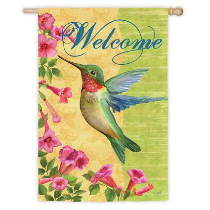 Hummingbird Decorative Garden Flag