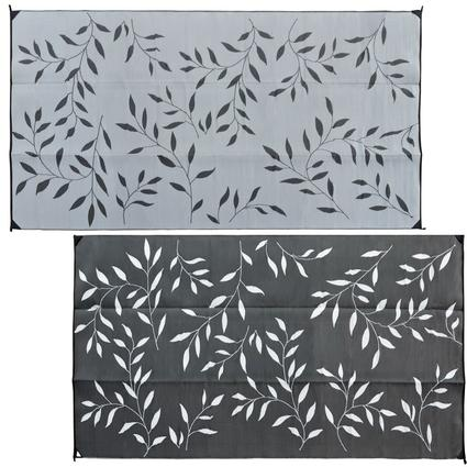 Leaf 8' x 16' Reversible Patio Mats - Black