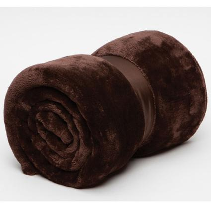 Polyester Cashmere Plush Throw - Chocolate