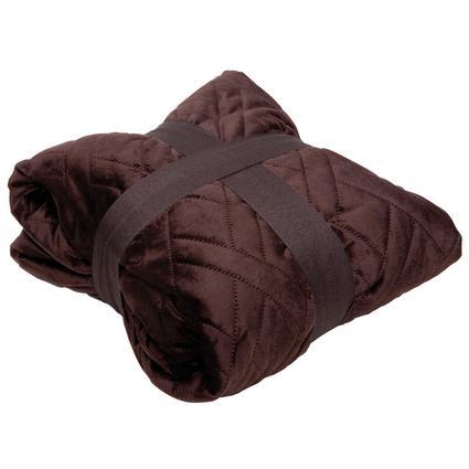 Saddle Stitched Oversize Throw - Chocolate