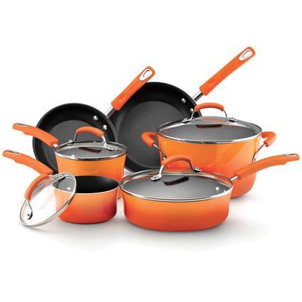 10-piece Cookware Set - Orange