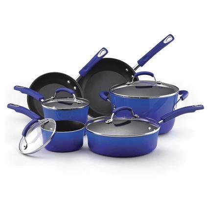 10-piece Cookware Set - Blue