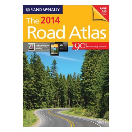 Rand McNally 90th Anniversary 2014 Road Atlas