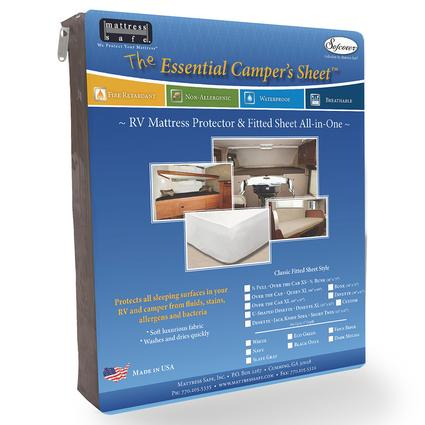 The Essential Camper's Sheet - RV Mattress Protector & Fitted Sheet All-in-One, Dinette/Jack-knife/Short Twin - Dark Mocha