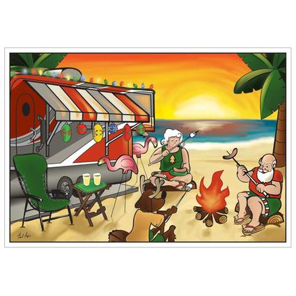 Limited Edition RV Christmas Cards - Campfire Christmas