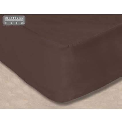 The Essential Camper's Sheet - RV Mattress Protector & Fitted Sheet All-in-One, Bunk/Over Cab XS/3/4 Full - Dark Mocha