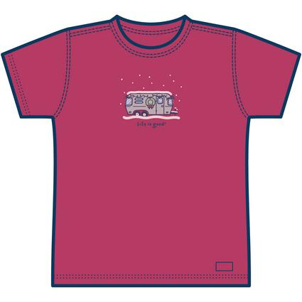 Life is good Ladies' Airstream Holiday T-shirt – Cherry Red - XX-Large