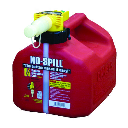 No-Spill Gasoline Cans - 1.25 Gallon Gasoline Can