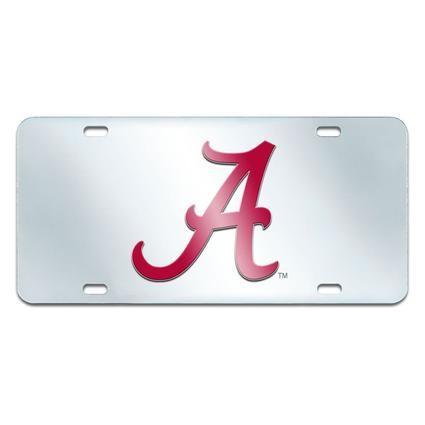 Fanmats Mirrored Team License Plate - Alabama