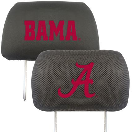 Fanmats Head Rest Covers, Set of 2 - Alabama