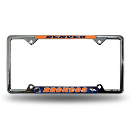 Fanmats License Plate Frame - Denver Broncos