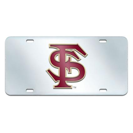 Fanmats Mirrored Team License Plate - Florida State