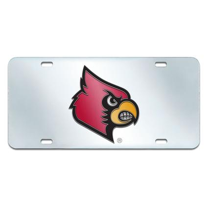 Fanmats Mirrored Team License Plate - Louisville