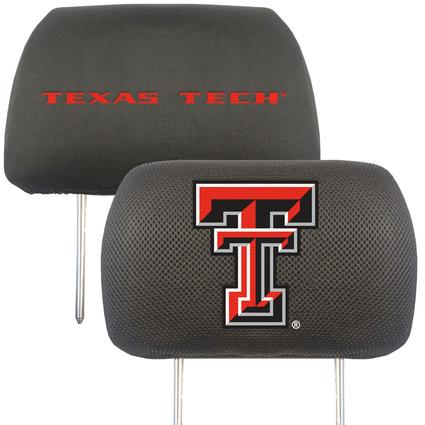 Fanmats Head Rest Covers, Set of 2 - Texas Tech