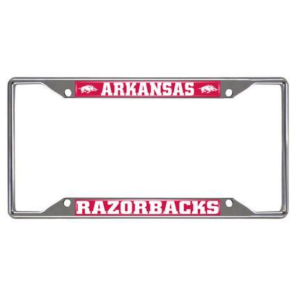 Fanmats License Plate Frame - University of Arkansas