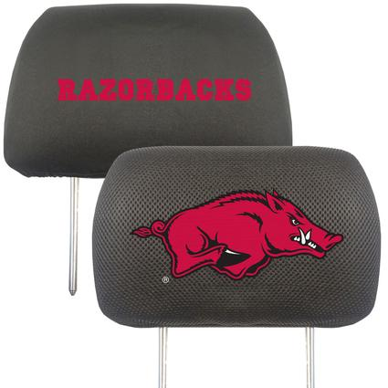 Fanmats Head Rest Covers, Set of 2 - University of Arkansas