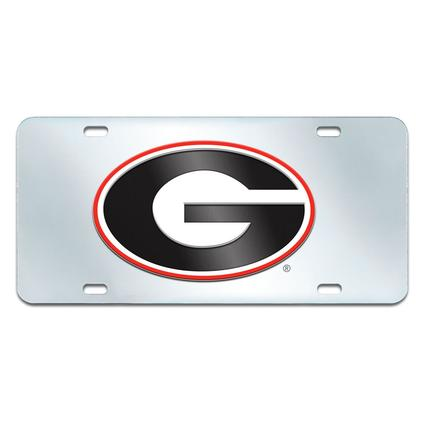 Fanmats Mirrored Team License Plate - University of Georgia