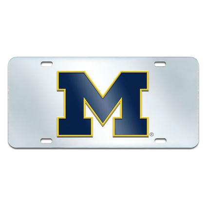 Fanmats Mirrored Team License Plate - University of Michigan