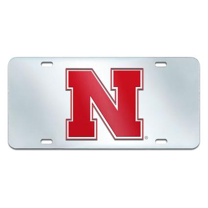 Fanmats Mirrored Team License Plate - University of Nebraska