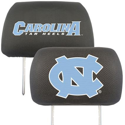 Fanmats Head Rest Covers, Set of 2 - University of North Carolina