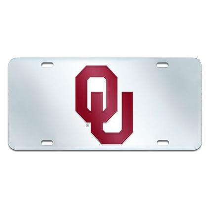 Fanmats Mirrored Team License Plate - University of Oklahoma