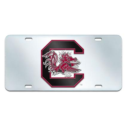 Fanmats Mirrored Team License Plate - University of South Carolina