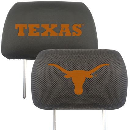 Fanmats Head Rest Covers, Set of 2 - University of Texas