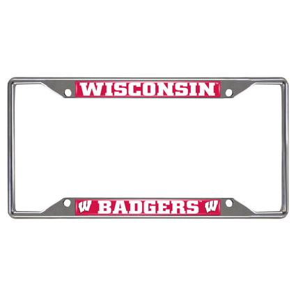 Fanmats License Plate Frame - University of Wisconsin