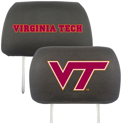 Fanmats Head Rest Covers, Set of 2 - Virginia Tech