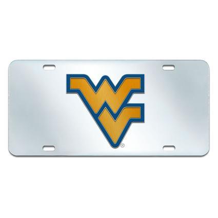 Fanmats Mirrored Team License Plate - WVU