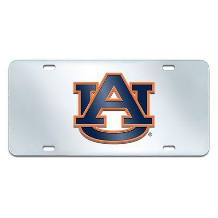 Fanmats Mirrored Team License Plate - Auburn