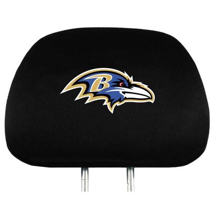 Fanmats Head Rest Covers, Set of 2 - Baltimore Ravens
