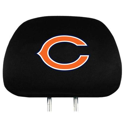 Fanmats Head Rest Covers, Set of 2 - Chicago Bears