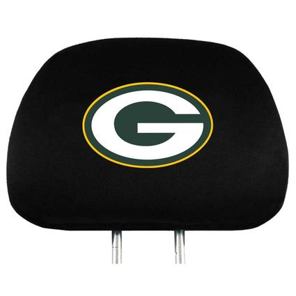 Fanmats Head Rest Covers, Set of 2 - Green Bay Packers