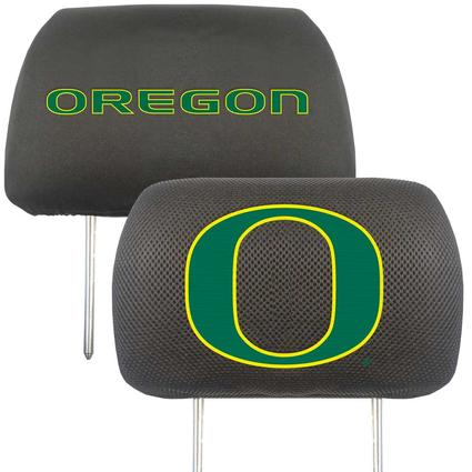 Fanmats Head Rest Covers, Set of 2 - University of Oregon