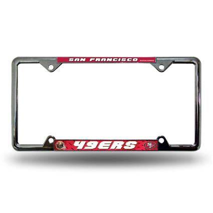 Fanmats License Plate Frame - San Francisco 49ers