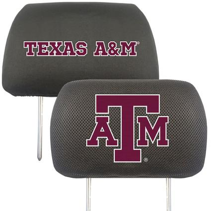 Fanmats Head Rest Covers, Set of 2 - Texas A&M