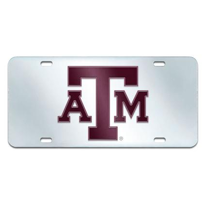 Fanmats Mirrored Team License Plate - Texas A&M