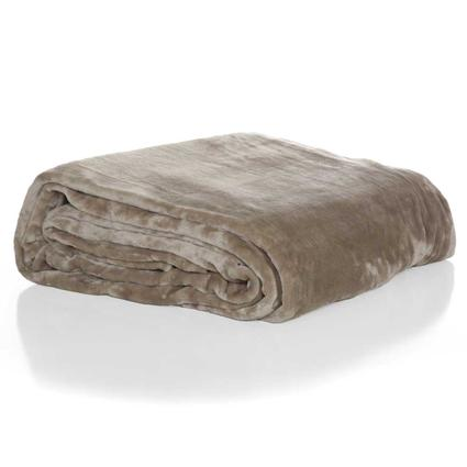 Luxury Soft Blanket, Queen - Taupe