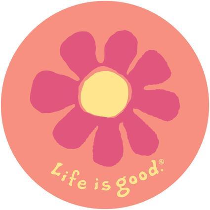 Life Is Good Sticker, Flower