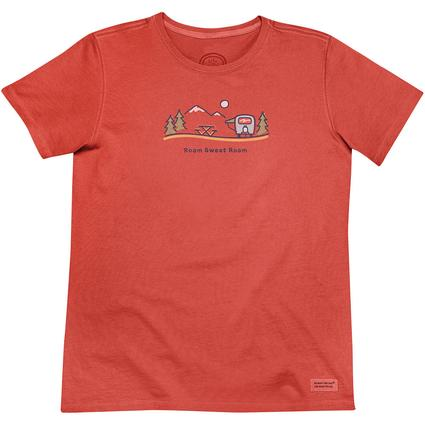 Life Is Good Ladies' Airstream Roam Sweet Roam Tee, Chili Red, Medium
