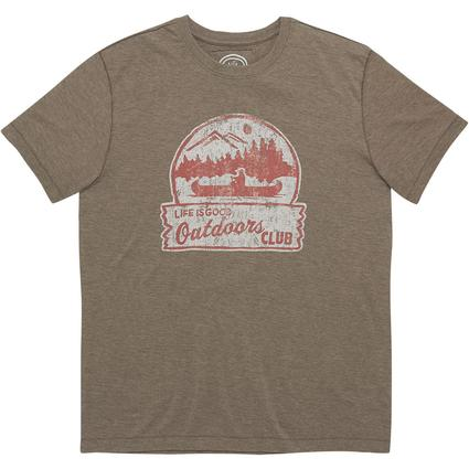 Life Is Good Men's Outdoor Club Cool Tee, Nutty Brown, XXL