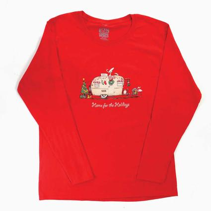Ladies' Long Sleeve Holiday Tee - Medium