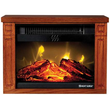 Heat Surge Mini Glo Fireplace Heater