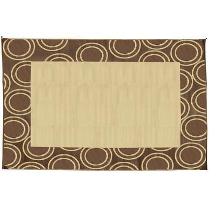 Circle Mat – Brown, 9'x12'