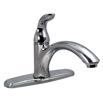 Chrome Finish Single Lever Kitchen Faucet