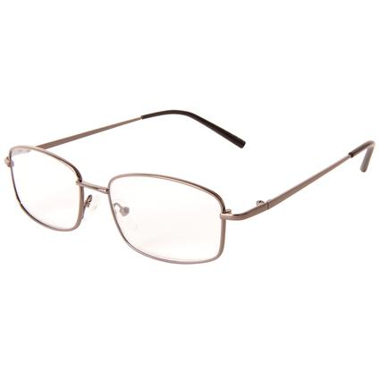 Men's Silver Reading Glasses, +225