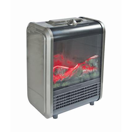 Mini Fireplace Heater, Gray