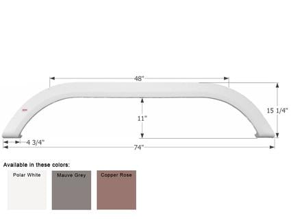 Carriage Tandem Fender Skirt FS1756 - Copper Rose
