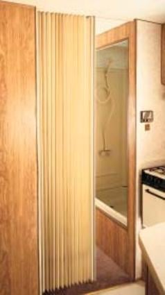Pleated Bi-Fold Door - Beige